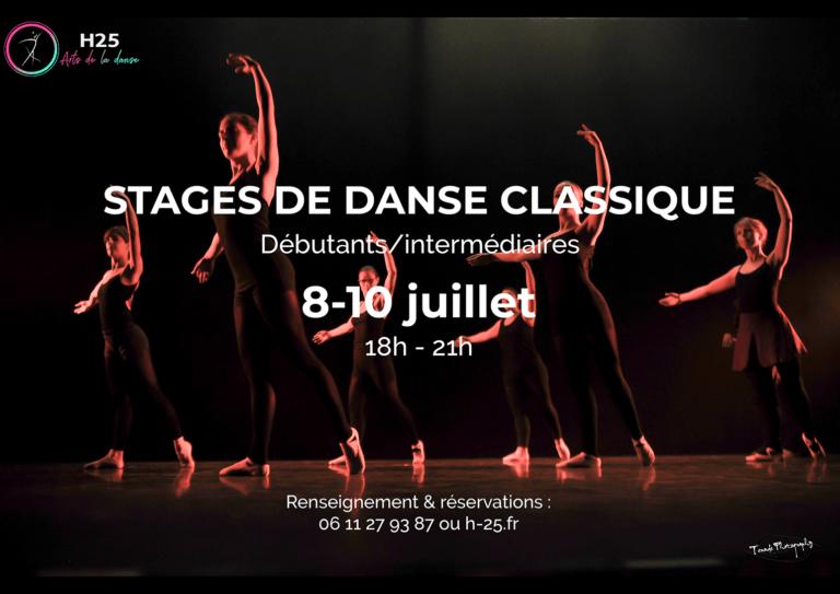 stage danse classique 8 au 10 juillet