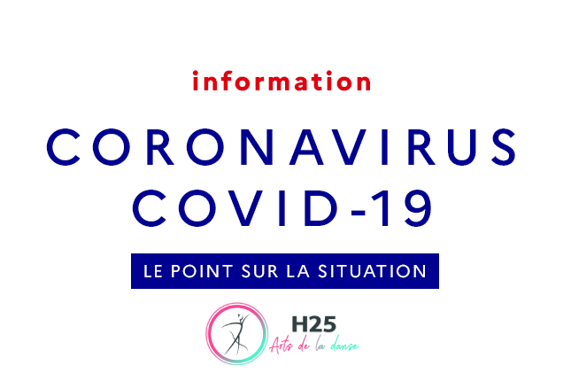 Covid-19 fermeture informations ecole de danse